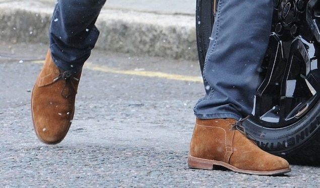 David Beckham wears Chukka Boots
